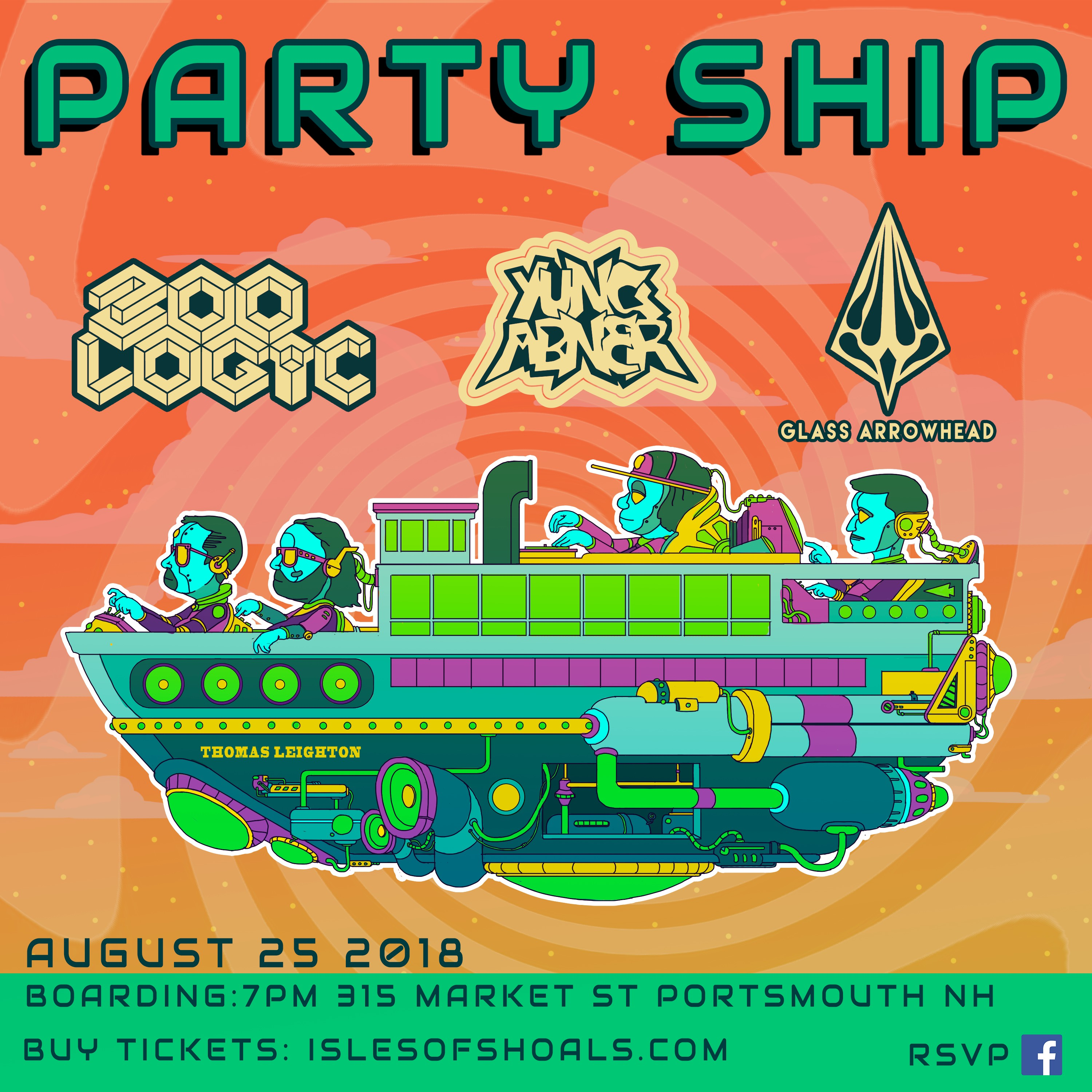 Party Ship w/ Zoo Logic,  Yung Abner and Glass Arrowhead Image